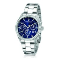 Maserati Designer Men's Watches Competizione Chronograph Multi Blue Dial Stainless Steel Men's Watch