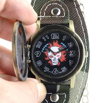 Large Dial Military Style Camouflage Watch