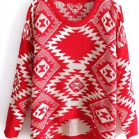 New red totem sweater from Fanewant