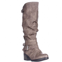 Carlos by Carlos Santana Claudia Wide Calf Riding Boots - Taupe