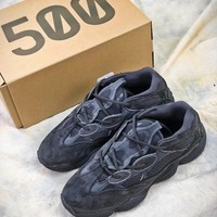 Kanye West Adidas Yeezy 500 Season 6 Runner B1756211 All Black Boost - Best Online Sale