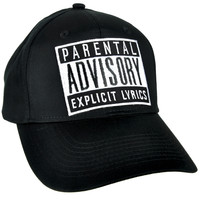 Parental Advisory Explicit Lyrics Hat Baseball Cap Alternative Clothing
