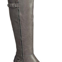 Cloudy Skies Grey Riding Boots