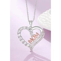 Mothers Day Personalized Mom Pendant Necklace