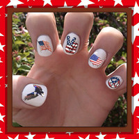 Fourth of July // Independence Day Nail Decals by SokayDesigns