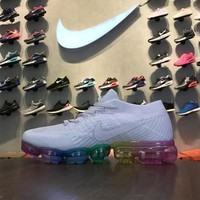 Nike Air VaporMax Flyknit Light Violet Rainbow Sole 899472-501 Sport Running Shoes - Best Online Sale