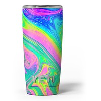 Neon Color Fushion V3 - Skin Decal Vinyl Wrap Kit compatible with the Yeti Rambler Cooler Tumbler Cups