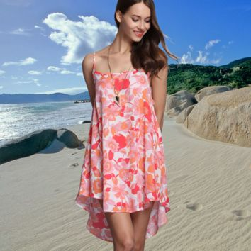 Floral Print Causal Chiffon dress  B0016405