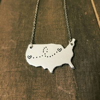 Customized Long Distance Relationship Best Friends Necklace