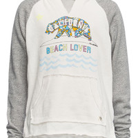 Billabong Cali Girls Raglan Hoodie Grey Combo  In Sizes