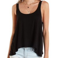 Scoop Neck Swing Tank Top by Charlotte Russe