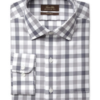 Tasso Elba Non-Iron Gingham Dress Shirt, Only at Macy's