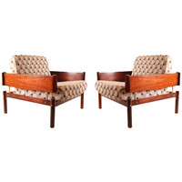 Pair of Armchairs by Percival Lafer
