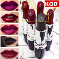 KOD Brand High Quality 5pc Moisturizer Waterproof Matte Lipstick Nude lip stick lipgloss batom