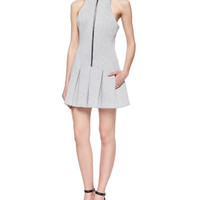 T by Alexander Wang Sleeveless Scuba Box-Pleated Dress
