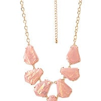FOREVER 21 Be Seen Iridescent Bib Necklace Rose/Multi One