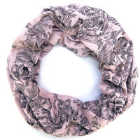 Adult Cowl Scarf Single Loop Scarf Floral Scarf Poe-Poe's Just Enough Petite Scarf Ready to Ship