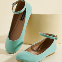 Every Step You Take Vegan Flat in Mint | Mod Retro Vintage Flats | ModCloth.com
