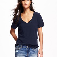 Relaxed V-Neck Tee for Women | Old Navy