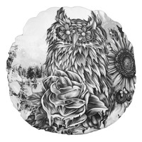 Lay of the Land Round Pillow