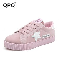 Fashion Women Shoes Women Casual Shoes Comfortable Platform Shoes For All Season Breathable trainners Star Student Flats XC41