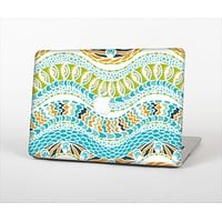"""The Vector Teal & Green Snake Aztec Pattern Skin Set for the Apple MacBook Air 11"""""""