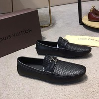 DCCK Louis Vuitton Men Casual Shoes Boots fashionable casual leather
