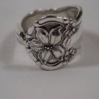 A Spoon Rings Plus Orange Blossom Spoon Ring Size 10 1/2 antique Spoon and Fork Jewelry t221