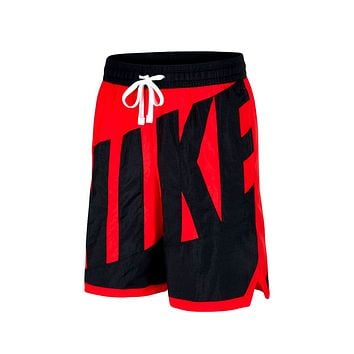 Nike Men's Dri-Fit Throwback Shorts Red Black