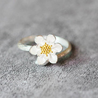 Lotus Flower Ring, Sterling Silver Lotus Ring, elegant Ring, Adjustable ring, Lotus Flower Rings, Lotus Flower Jewelry, gifts for her