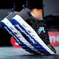 Jordan summer new men's shoes mesh shoes breathable sports casual shoes wear-resistant deodorant running shoes Blue