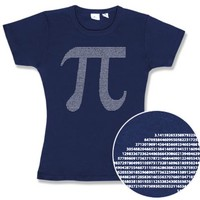 Pi by Numbers Fitted Ladies' Tee - Navy,