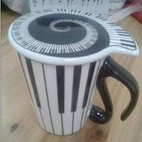 Emoyi The Best Christmas Gift Ceramic Striped Coffee/Tea/Milk Cup/Mug With Cover