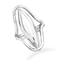 Oblong Cut Out Design Ring