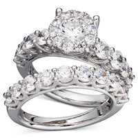 Prestige Unity Diamond Bridal Ring Set in 14k White Gold (2 ct. t.w.)