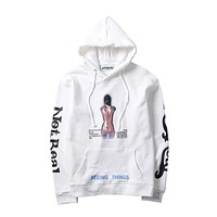 Boys & Men Off-White Top Sweater Hoodie