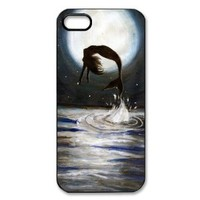 zombie snow white and mermaid Plastic Case Back Cover for iphone 5
