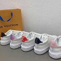 Louis Vuitton LV  Women's flat sole low top lace up casual shoes thick sole board shoes