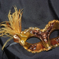 Masquerade Mask in Bronze and Gold