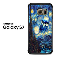 Doctor who Starry night3 Samsung Galaxy S7 Case