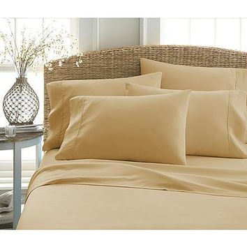Ultra Soft Wrinkle and Fade FREE Hypoallergenic Antimicrobial Microfiber Twin, Queen, King, California King Size Sheet Set