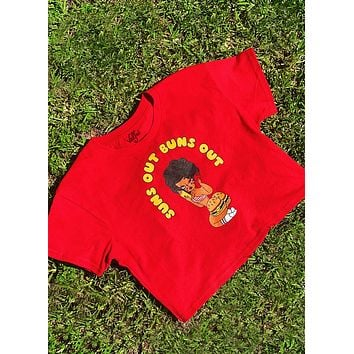 Suns Out Buns Out Cropped Tee