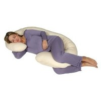 Amazon.com: Snoogle Chic Jersey - Snoogle Total Body Pregnancy Pillow with 100% Jersey Cotton Knit Easy on-off Zippered Cover - Heather Gray: Home & Kitchen