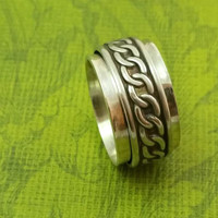MEDITATION RING - DONOVAN Series, unisex, bdsm themed, can be personalized, commitment jewelry, Dominant's or submissive, Made To Order 8863