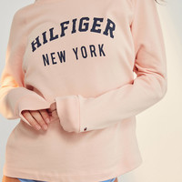 Tommy Hilfiger Pale Blush Track Sweatshirt   Urban Outfitters
