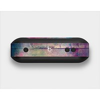 The Pink & Blue Grunge Wood Planks Skin Set for the Beats Pill Plus