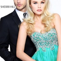 Photos of Sherri Hill Prom Dresses and Sherri Hill Dresses 3869 at Peaches Boutique