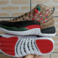 Gucci x Air Jordan 12 Retro Snake Sport Shoes