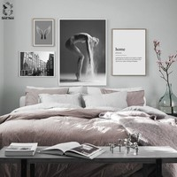 Scandinavian Posters And Prints Wall Art Canvas Painting Home Wall Pictures For Living Room Nordic Poster Girl Room Decoration