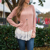 For The Love Of Lace Top, Blush